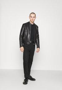 Just Cavalli - SPORTSJACKET - Leather jacket - black - 1