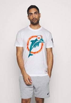 NFL MIAMI DOLPHINS TEAM LOGO TEE - Klubové oblečení - white