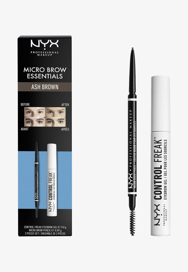 Nyx Professional Makeup - MICRO BROW ESSENTIALS – MIRCRO BROW PENCIL - Makeup set - ash brown