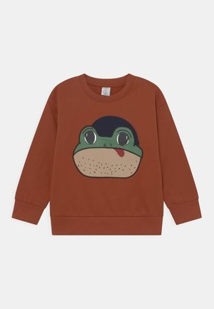 PLACED FROG UNISEX - Sweatshirt - dark dusty orange