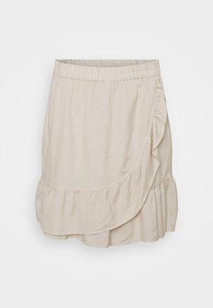 ONLCARLY VIVA NEW LIFE  WRAP SKIRT - Minifalda - pumice stone