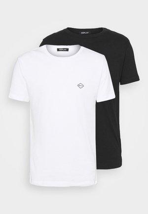 OPTION 2 PACK - T-shirt med print - white/black