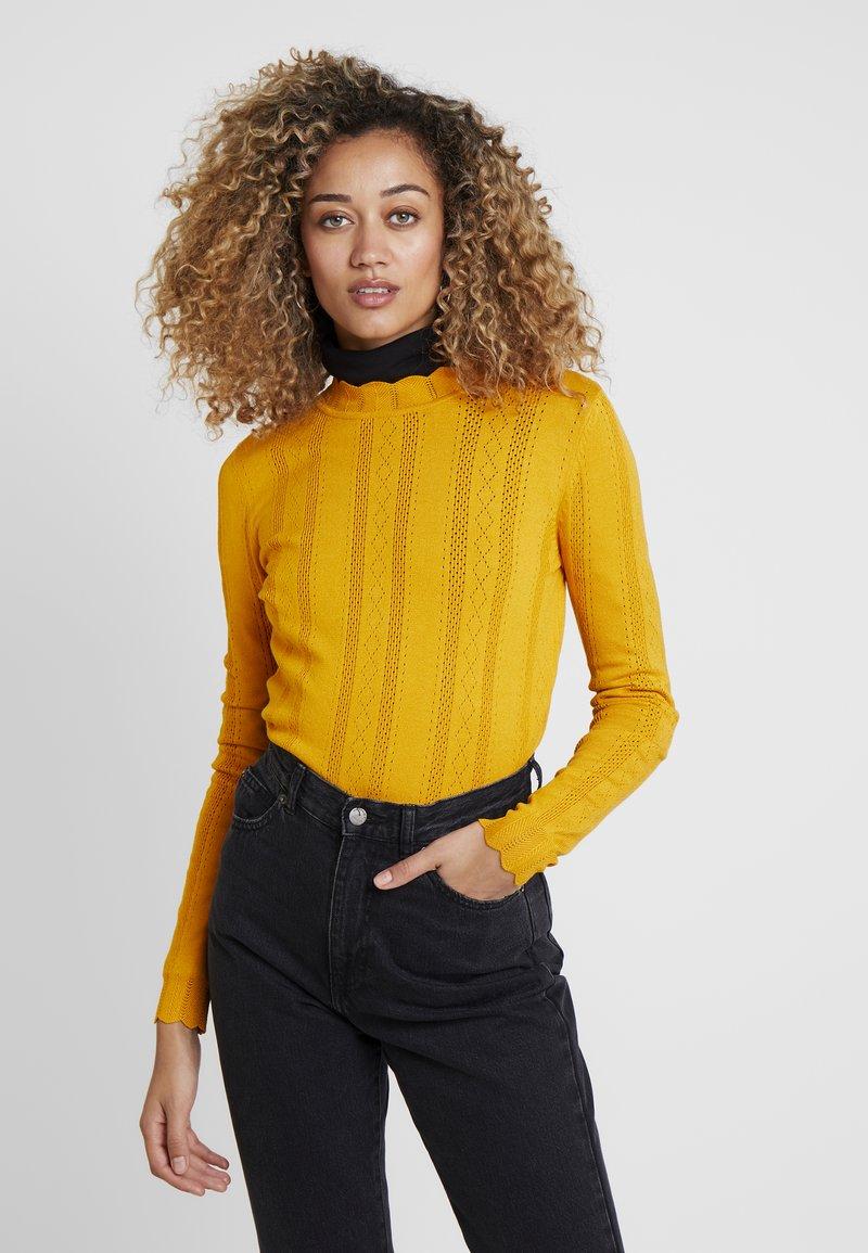 TOM TAILOR DENIM - STRUCTURED MOCK NECK - Jumper - sunflower yellow