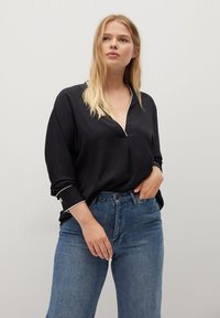 Violeta by Mango - PIPING - Blouse - schwarz - 0