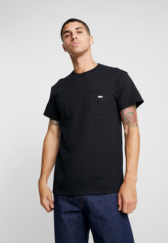 JUMBLED BASIC POCKET TEE - Basic T-shirt - black