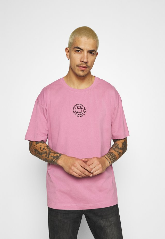 OVERSIZED UNISEX  - T-shirt con stampa - mauve orchid