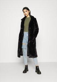 ONLY - LONG COAT - Classic coat - black - 0
