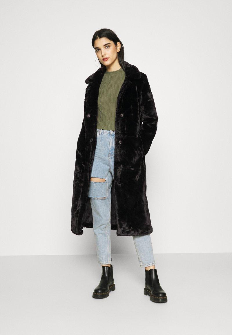 ONLY - LONG COAT - Classic coat - black