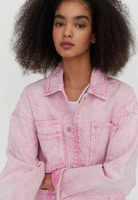 PULL&BEAR - Denim jacket - rose - 4