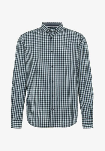Shirt - navy blue offwhite small check