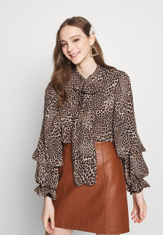WILD CAMEO BOW BLOUSE - Paitapusero - brown