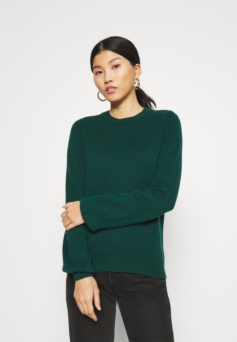 edc by Esprit - FITTED PUFFY - Jumper - dark teal green