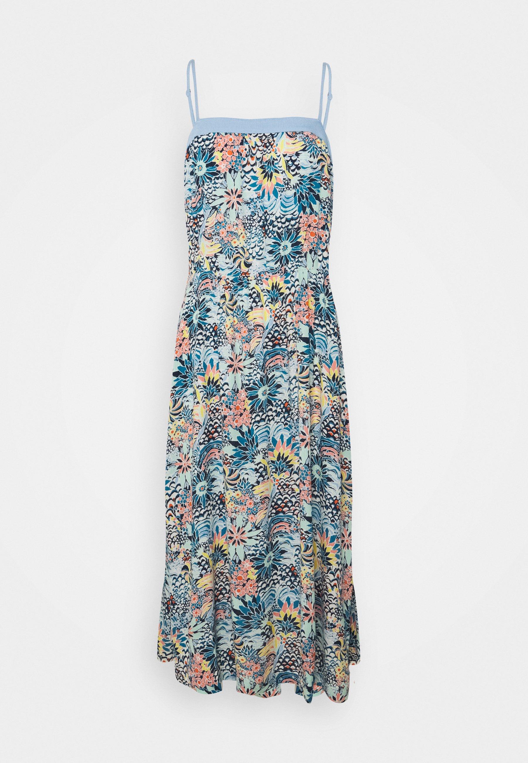 Women MARINE BLOOM MIDI DRESS - Day dress - powder puff flower