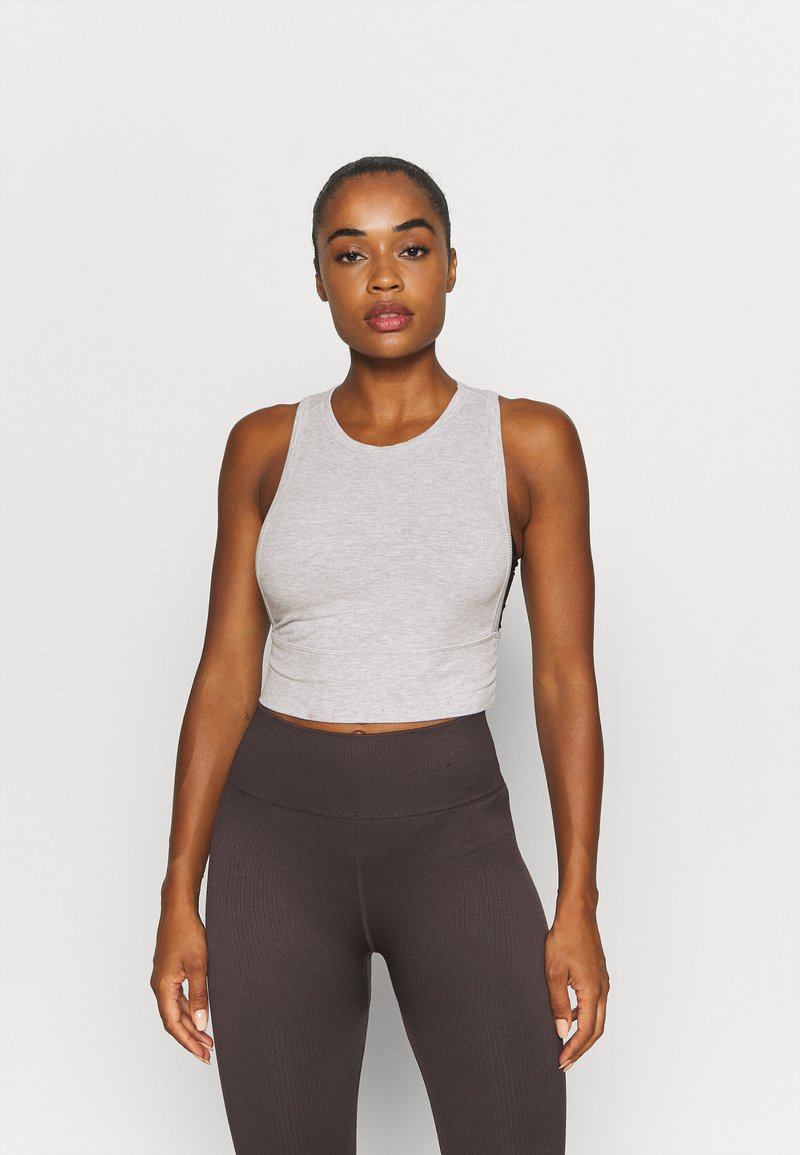 Cotton On Body - LAYERING CROP TANK - Top - grey marle