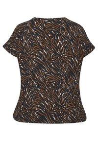 Kaffe Curve - Blouse - blue brown zebra print - 5