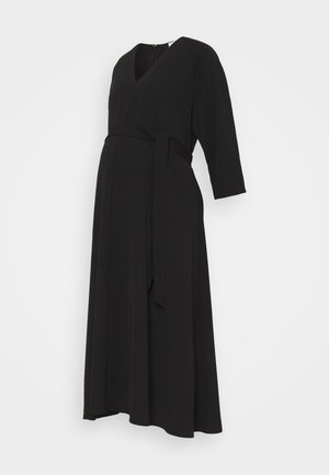 SCAROLA - Robe longue - black