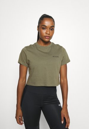 RIVER 1/2 CROP TEE - T-shirts med print - stone green