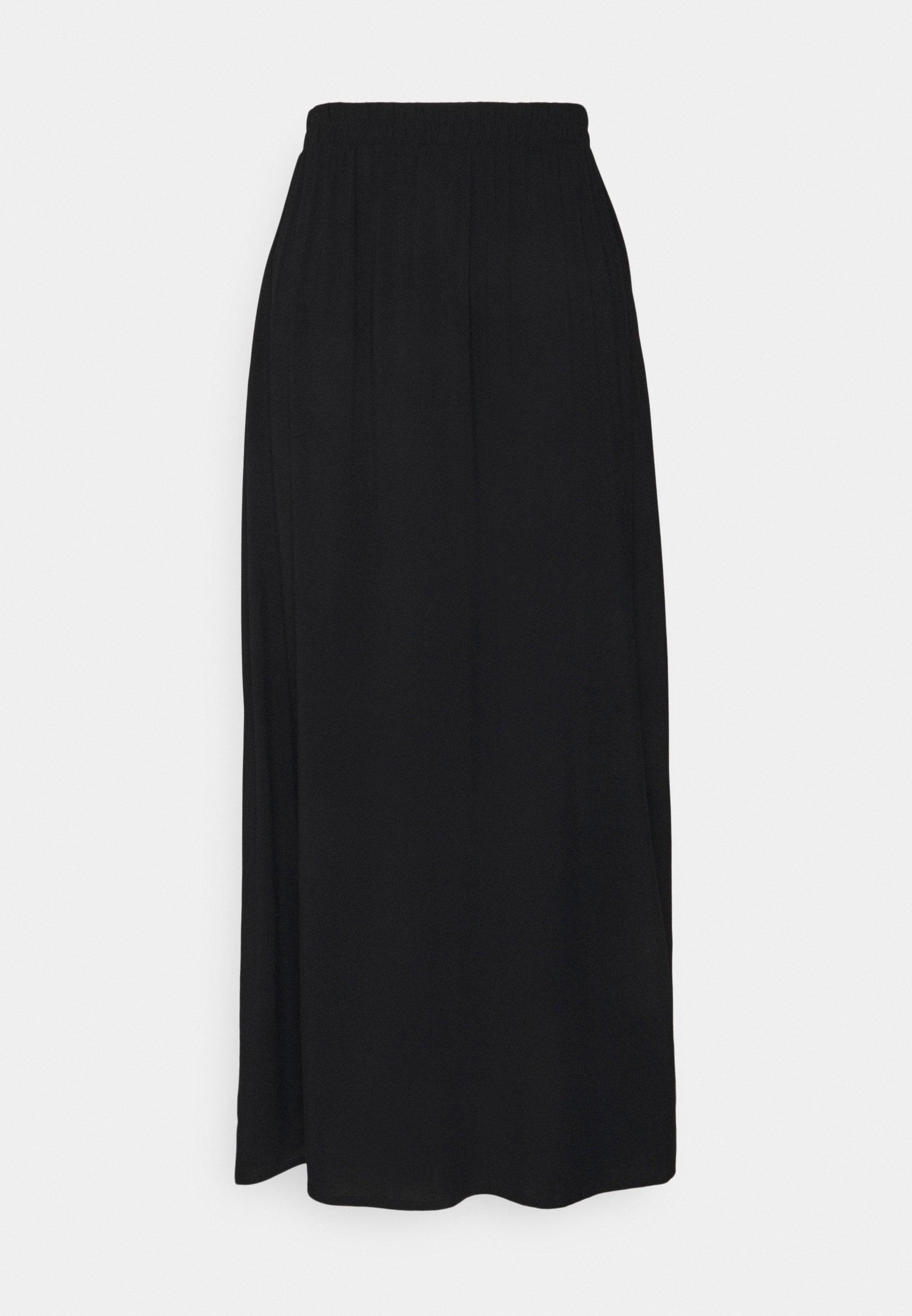 Mujer MAIN LONG SKIRT - Falda acampanada - black