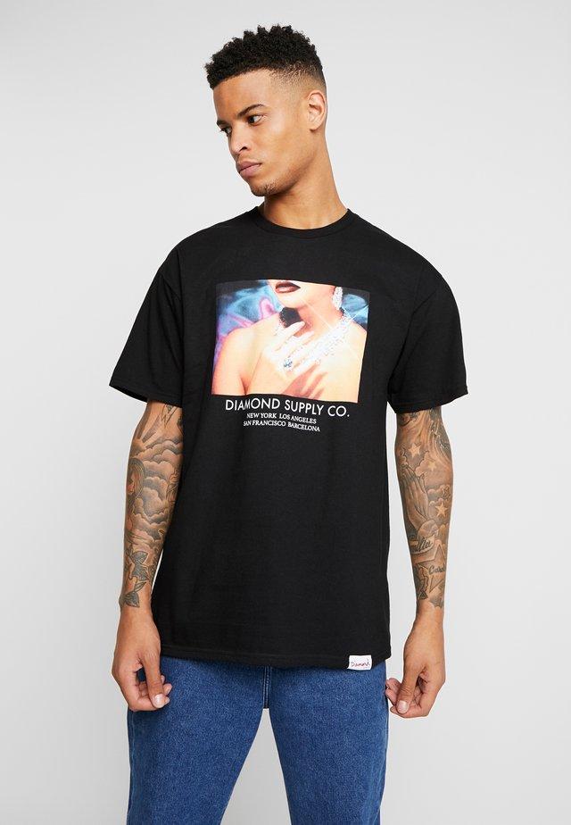 WOMENS HAND TEE - Camiseta estampada - black