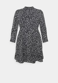 Selected Femme Curve - SLFVIA SHORT DRESS - Denní šaty - black - 5
