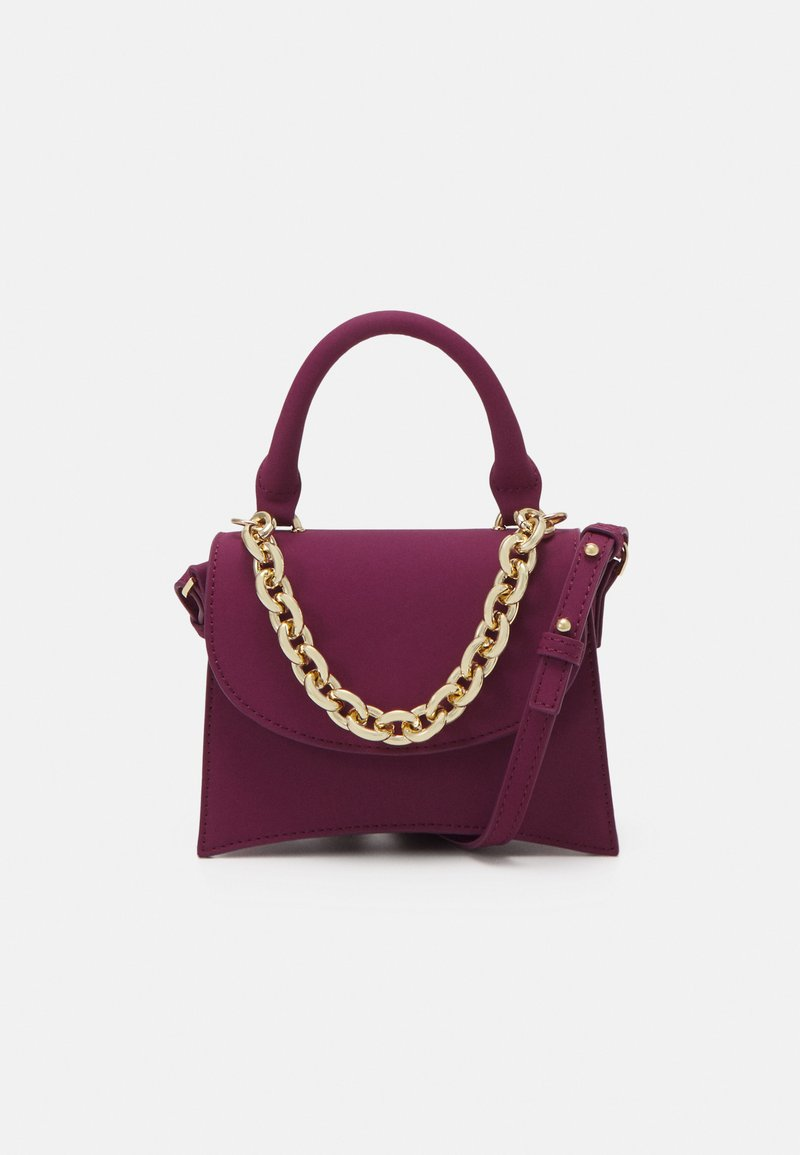 Topshop - MINI XBODY WITH CHAIN - Handbag - raspberry
