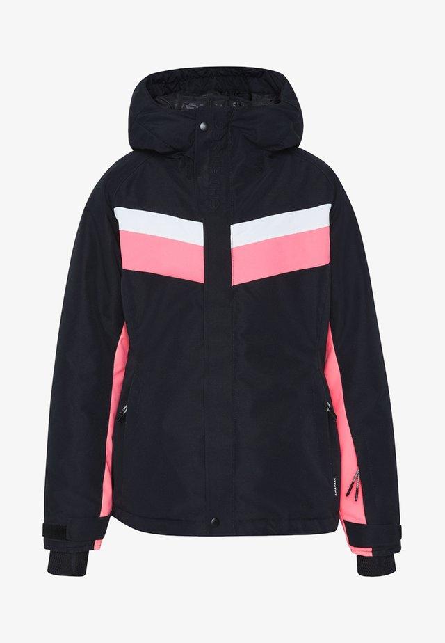 MIT KONTRASTSTREIFEN - Ski jacket - deep black