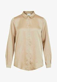 Vila - Button-down blouse - humus - 4