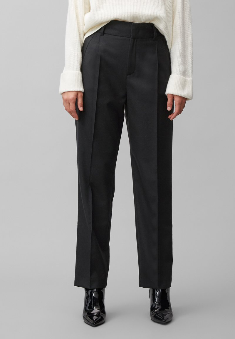 Marc O'Polo PURE - Trousers - pure black