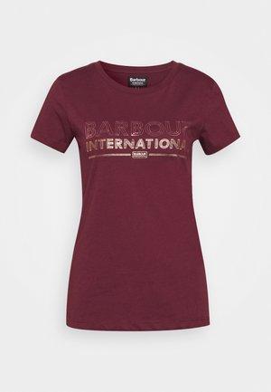 KNOCKHILL TEE - T-shirt z nadrukiem - port