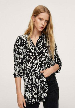 Button-down blouse - svart