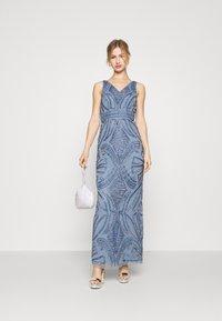 Lace & Beads - FALLYN MAXI - Vestido de fiesta - dusty blue - 1
