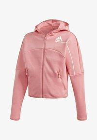 adidas Performance - ADIDAS Z.N.E. LOOSE FULL-ZIP HOODIE - Zip-up sweatshirt - pink - 0