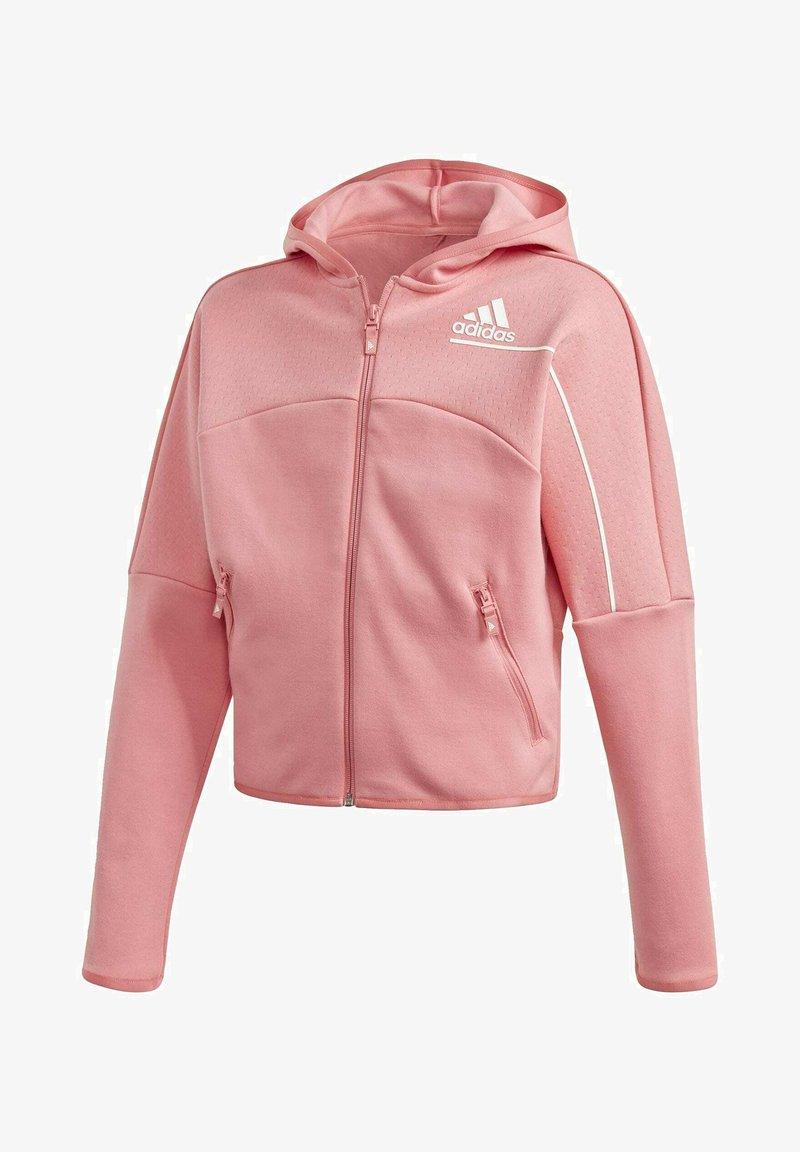 adidas Performance - ADIDAS Z.N.E. LOOSE FULL-ZIP HOODIE - Zip-up sweatshirt - pink