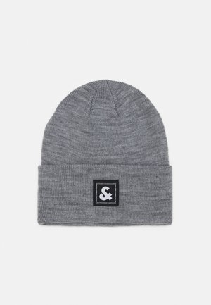 JACSTUART LONG BEANIE - Muts - grey melange/black