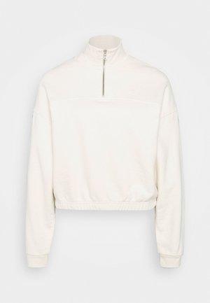 POM QUARTER ZIP - Sweatshirt - off white