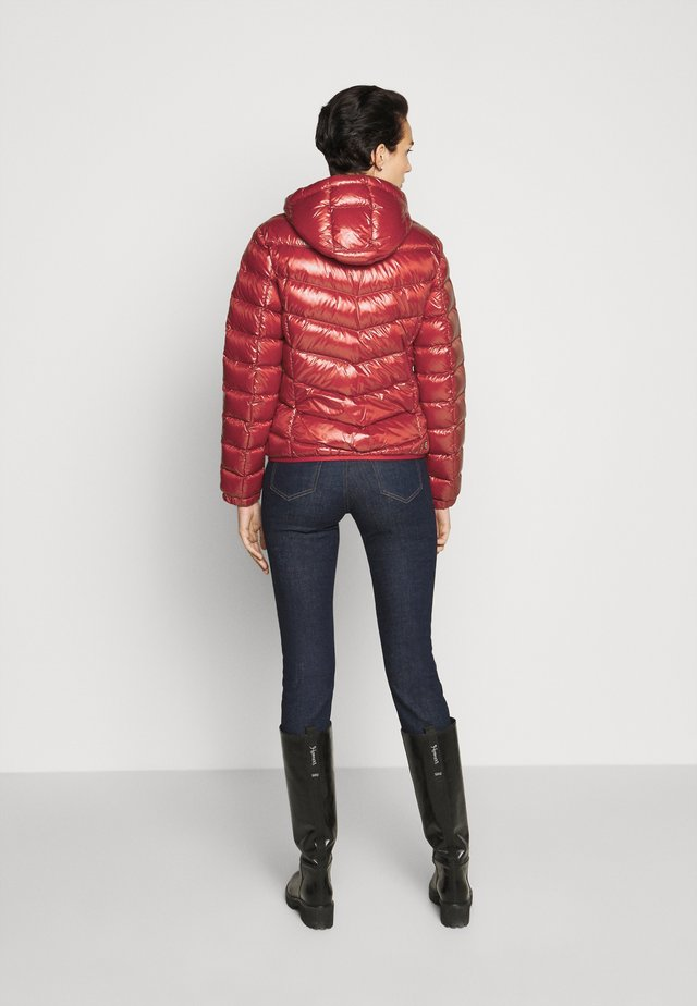 LADIES JACKET - Down jacket - red/black