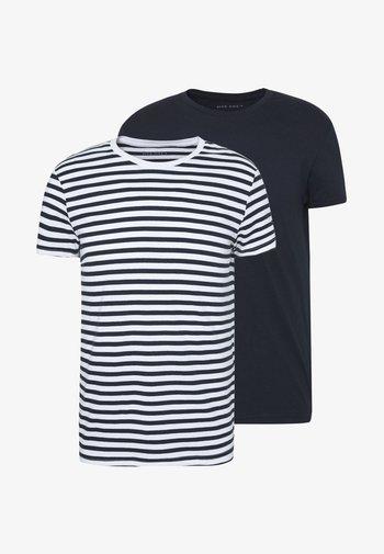 2 PACK - T-shirt - bas - white/dark blue