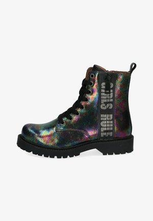 Lace-up ankle boots - multi