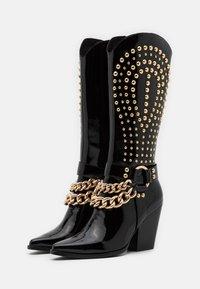Jeffrey Campbell - Cowboy/biker ankle boot - black - 2