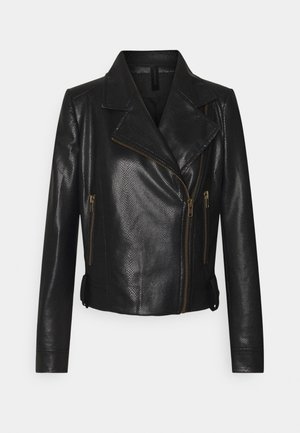 PAISLY - Faux leather jacket - schwarz