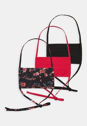 3 PACK - Látková maska - multi/rose/black