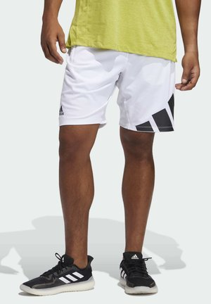 4K 3 BAR DESIGNED4TRAINING PRIMEGREEN SHORTS - Sports shorts - white
