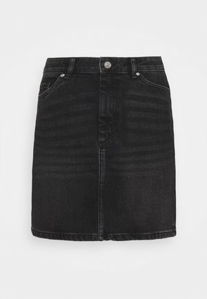 ONLROSE LIFE ASHAPE SKIRT - Mini skirt - black denim