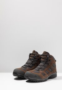 Jack Wolfskin - VOJO HIKE 2 TEXAPORE MID - Hiking shoes - dark wood - 2