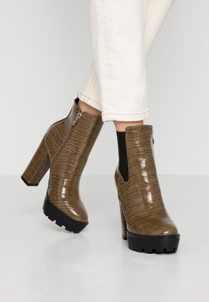 CLAUDIA - High heeled ankle boots - taupe