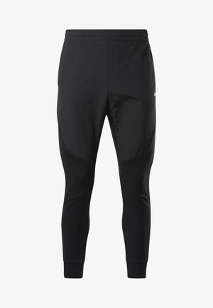 KNIT-WOVEN JOGGERS - Pantalon de survêtement - black