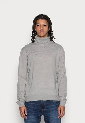 FINE GAUGE ROLL NECK - Sweter - light grey