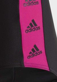 adidas Performance - GIRLS TAPERED SWIMSUIT - Swimsuit - black - 8
