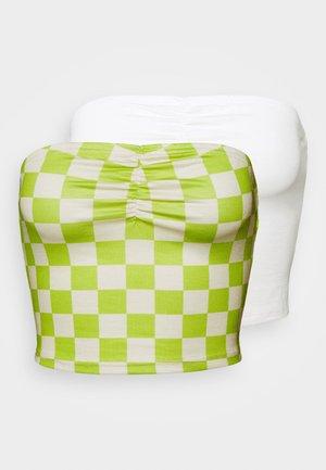 MAYA RUCHED BANDEAU 2 PACK - Top - green/white