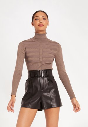 WITH TURTLENECK - Jumper - taupe